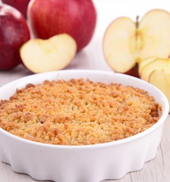 Crumble de maçã light
